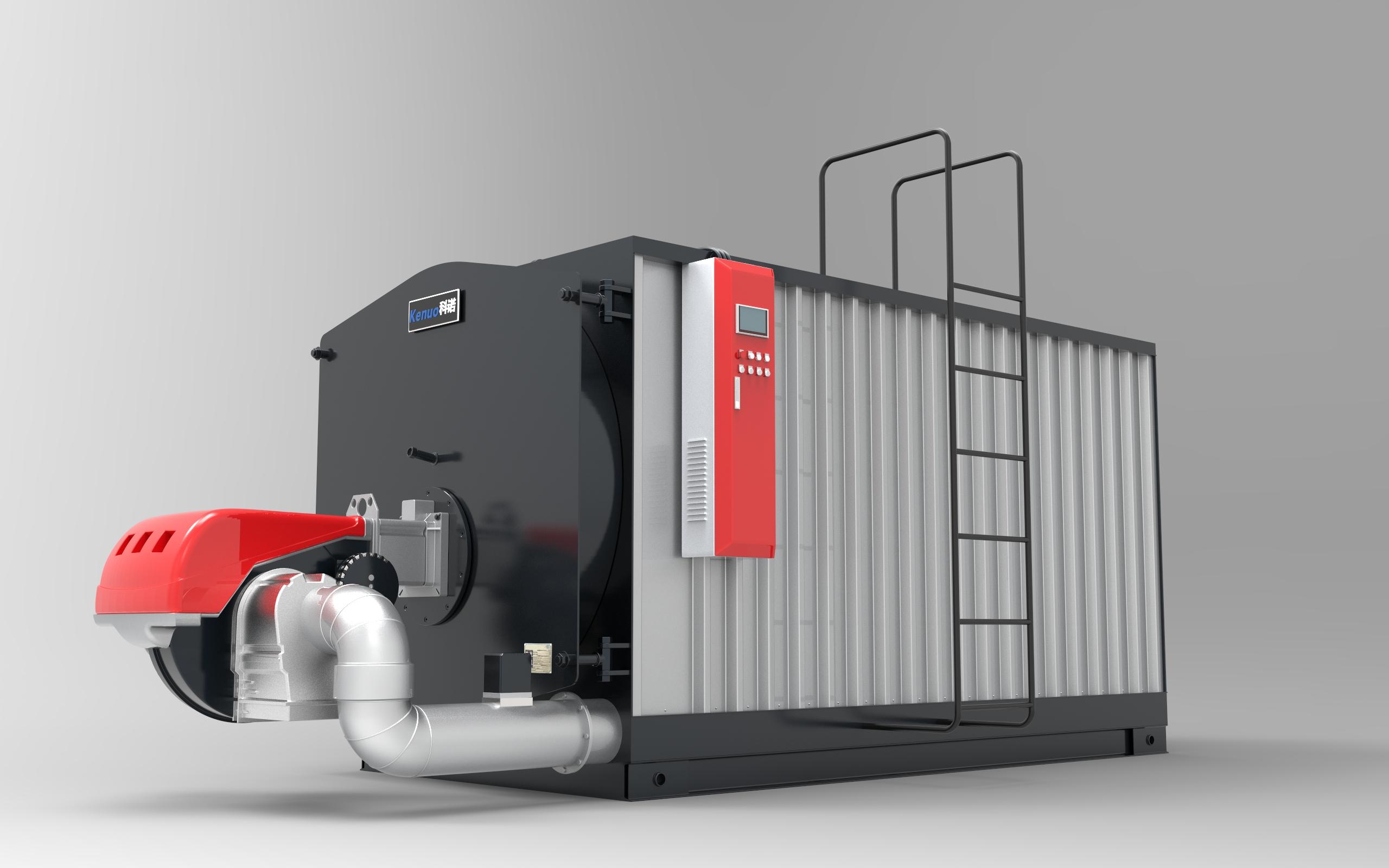 科诺低氮冷凝真空热水锅炉采用经典三回程全湿背式结构,内置冷凝器