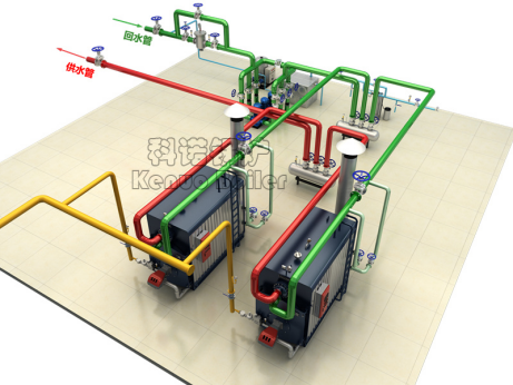 真空锅炉系统供热图